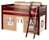 Maxtrix Kahki Tent Bed in Chestnut (Slat Bed Ends) (300.1)