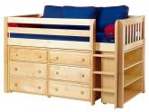 Box 2 in Natural w/ Slats by Maxtrix Kids (Blue and Red) (604)