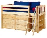 Kicks 2 in Natural w/ Slats by Maxtrix Kids (Blue and Red) (604)