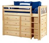 Natural Bling Storage Bed w/ Slats by Maxtrix Kids (Blue and White) (630)