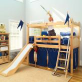 Camelot Castle Low Loft Bed with Slide by Maxtrix Kids (395)