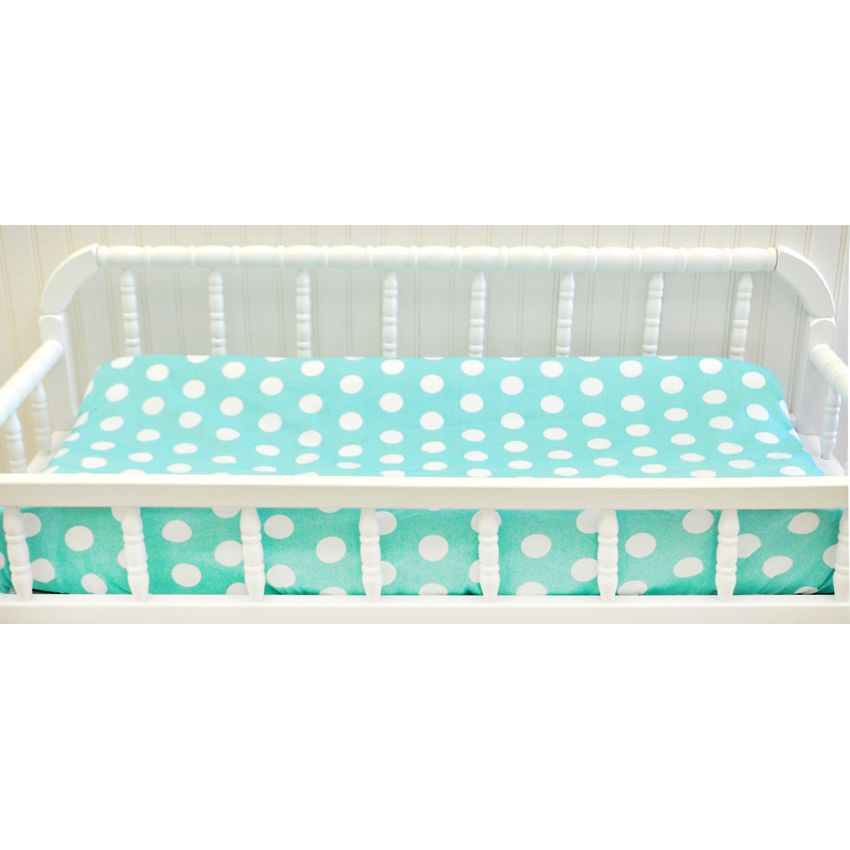 Pixie Baby in Aqua 3pc Crib Bedding Set by My Baby Sam Thumbnail 3