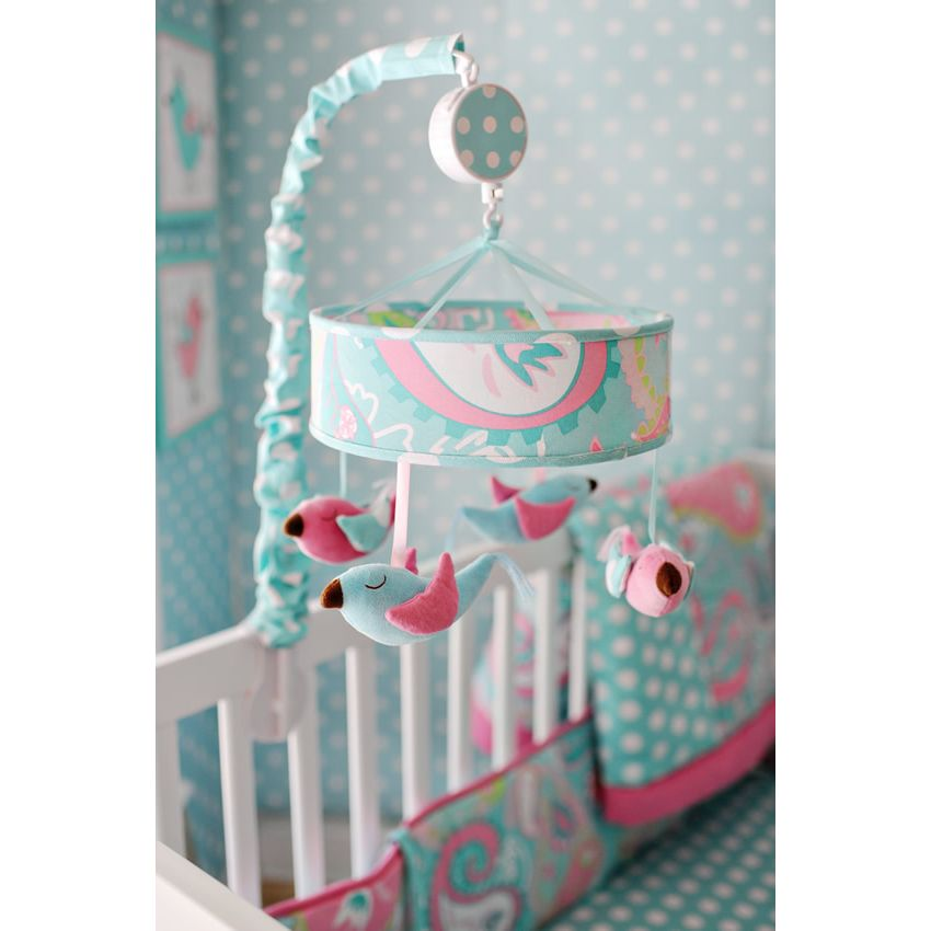 Pixie Baby in Aqua 3pc Crib Bedding Set by My Baby Sam Thumbnail 12
