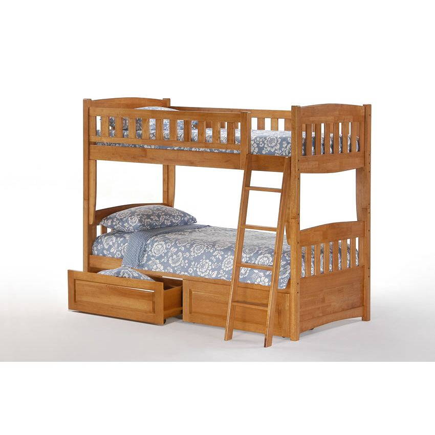 Bed Captivating Wooden Cinnamon Twin Over Full Bunk