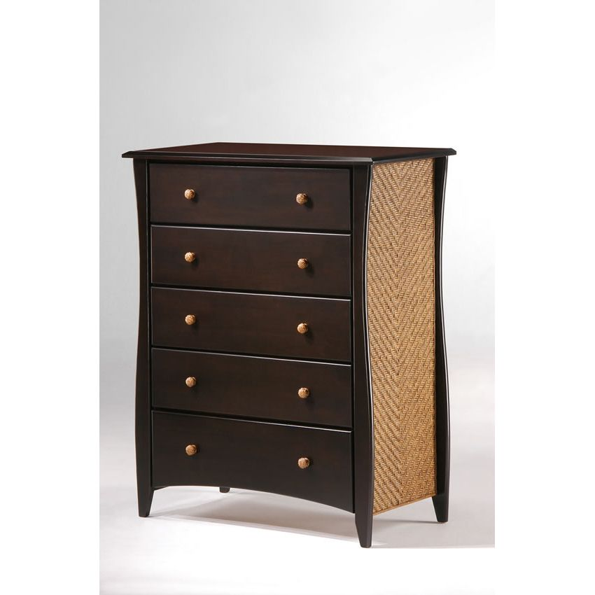 Clove 5 Drawer Chest shown in natural finish Thumbnail 2