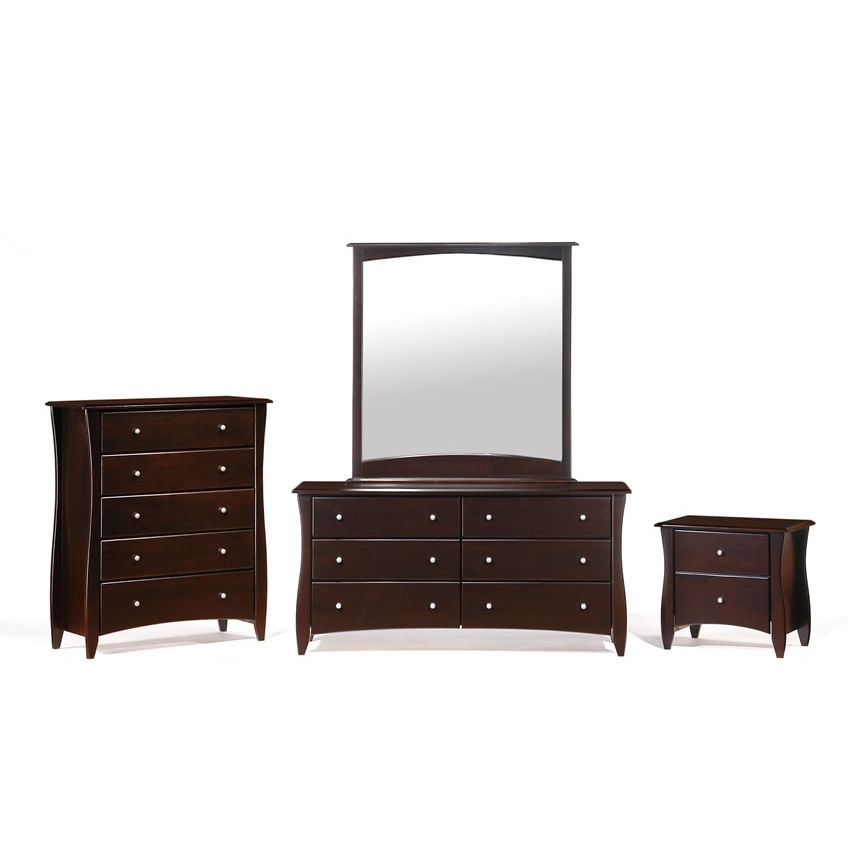 Clove 2 Drawer Night Stand shown in chocolate finish Thumbnail 3