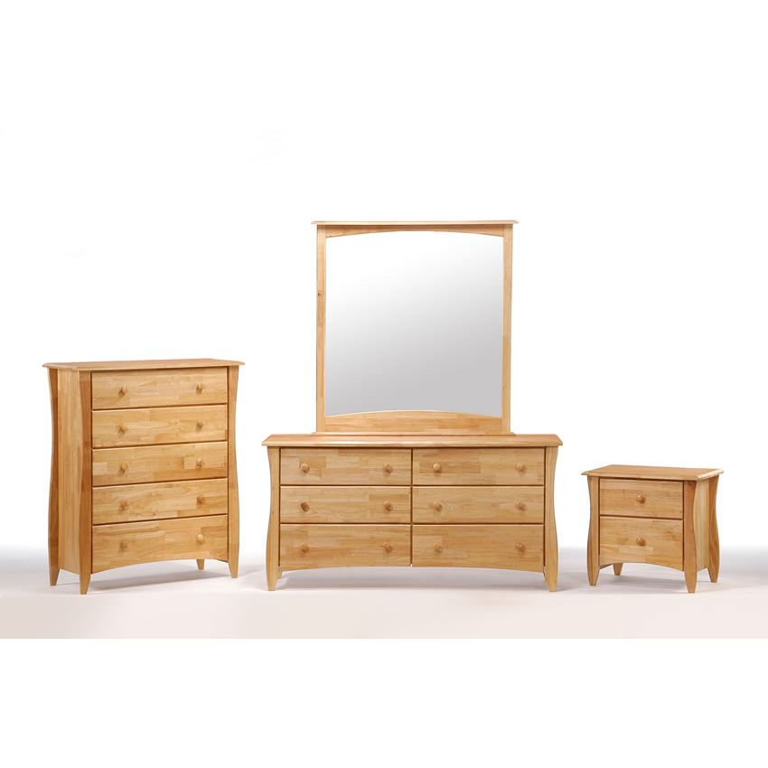 ... Clove 2 Drawer Night Stand Shown In Natural Finish Thumbnail 1 ...