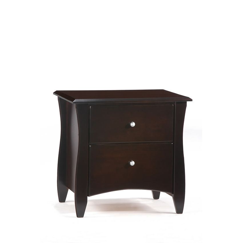 Clove 2 Drawer Night Stand shown in chocolate finish Thumbnail 2