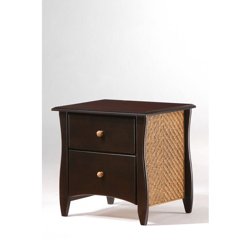 Clove 2 Drawer Night Stand shown in chocolate finish Thumbnail 1