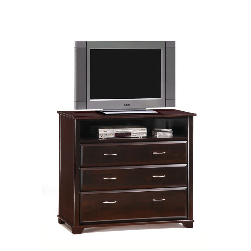Juniper TV Stand shown in chocolate finish Thumbnail 1