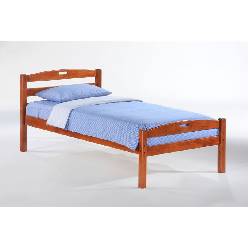 Twin Sesame Bed In Cherry Finish D