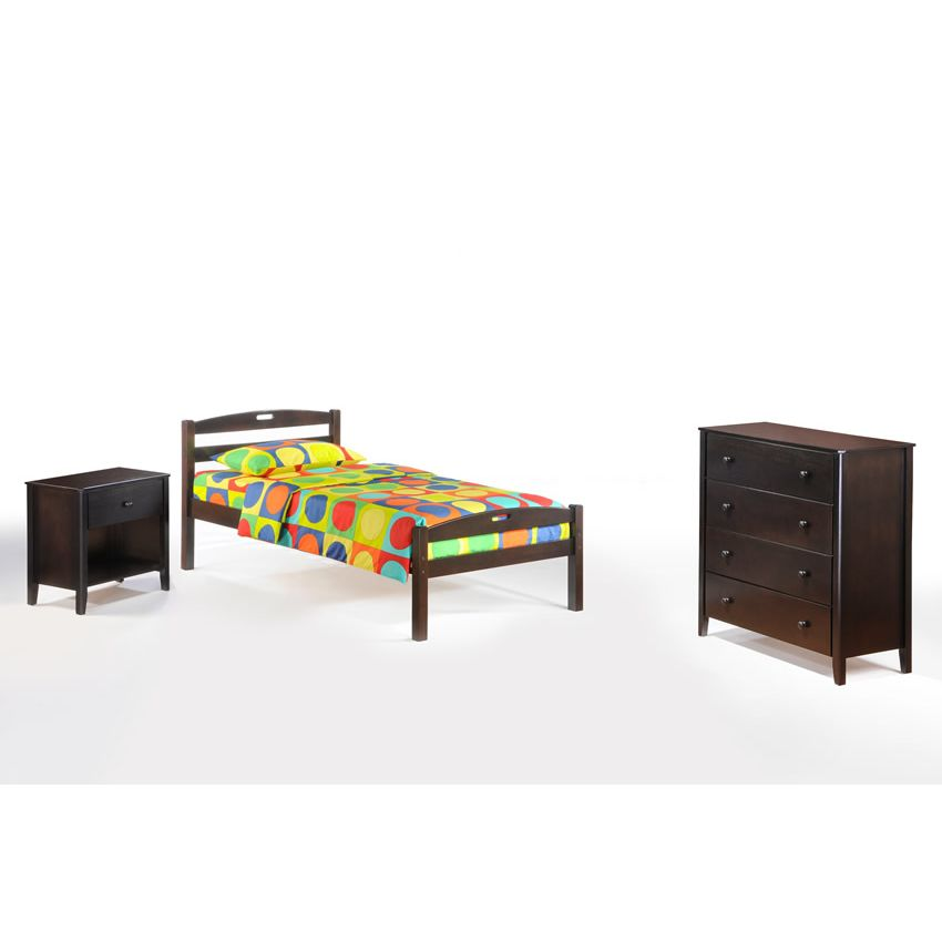 Twin Sesame Bed In Chocolate Finish D