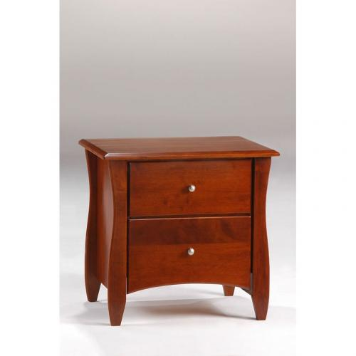 Clove 2 Drawer Night Stand shown in cherry finish Thumbnail