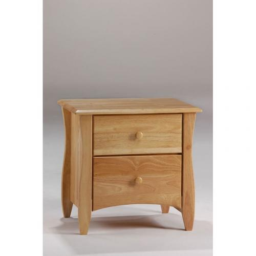 Clove 2 Drawer Night Stand Shown In Natural Finish