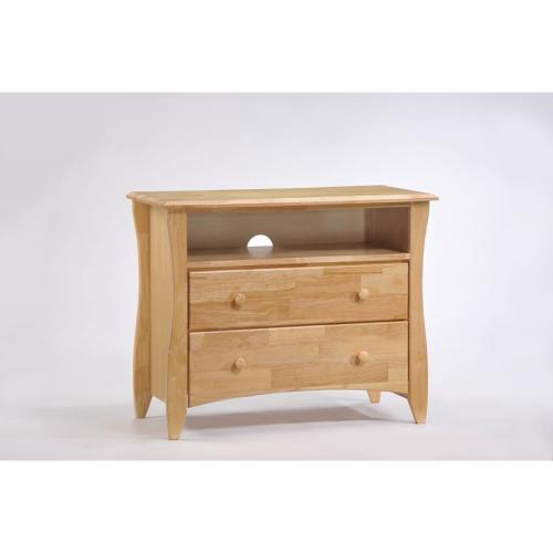 Clove TV Stand shown in Natural finish