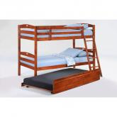 Twin Sesame Bunk Bed shown in cherry finish