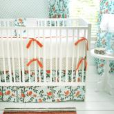 Feather Your Nest in Aqua Crib Bedding Set by New Arrivals
