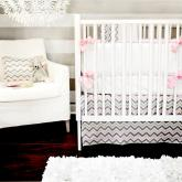 Peace, Love & Pink Crib Bedding Set by New Arrivals