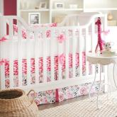 Penelope in Pink Crib Bedding Set by New Arrivals