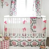 Ragamuffin in Pink Crib Bedding Set by New Arrivals