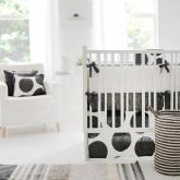 Spot on Charcoal Crib Bedding Set by New Arrivals