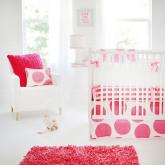 Spot on Fucshia Crib Bedding Set by New Arrivals