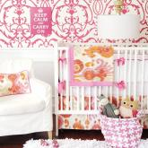 Urban Ikat in Pink Crib Bedding Set by New Arrivals