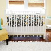Urban Zoo in Gray Crib Bedding Set by New Arrivals