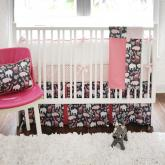 Urban Zoo in Pink Crib Bedding Set by New Arrivals