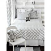 Zig Zag Baby in Gray Kids Bedding by New Arrivals