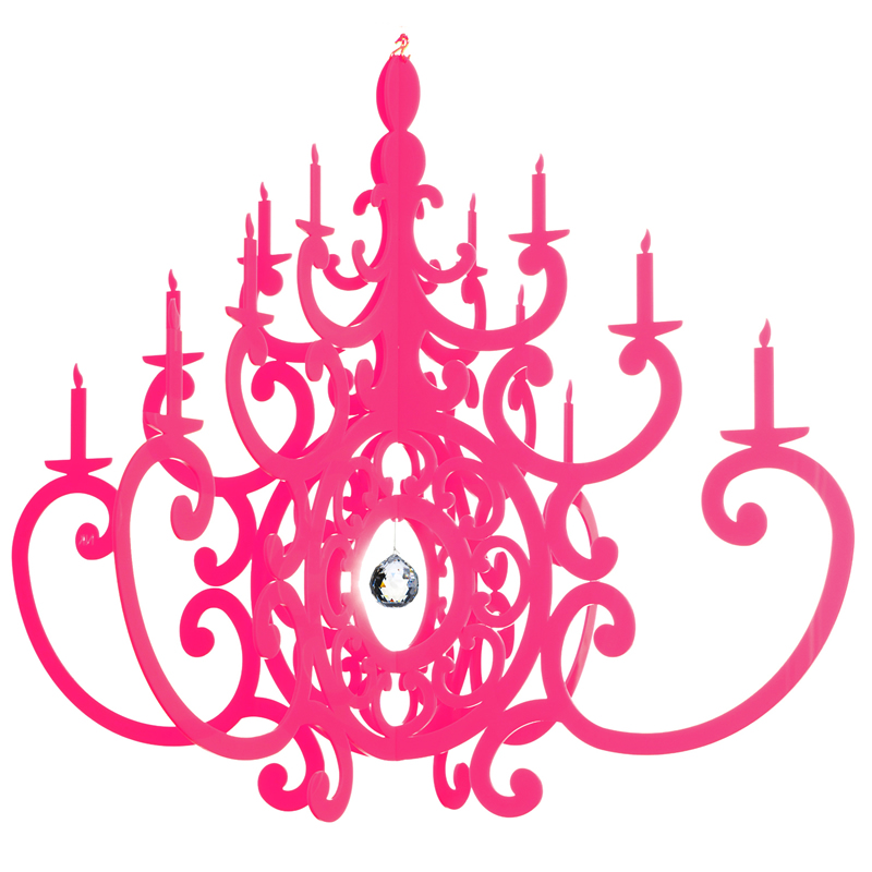 Fancy hot pink chandelier mobile aloadofball
