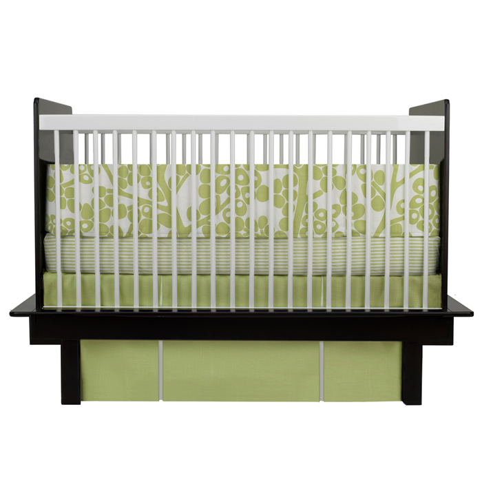 Modern Berries 3-Piece Crib Set in Spring Green by Oilo Thumbnail 2