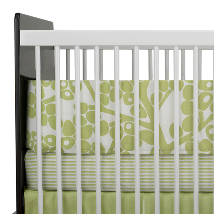 Modern Berries 3-Piece Crib Set in Spring Green by Oilo Thumbnail 4