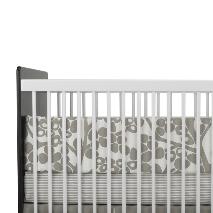 Modern Berries 3-Piece Crib Set in Taupe by Oilo Thumbnail 1
