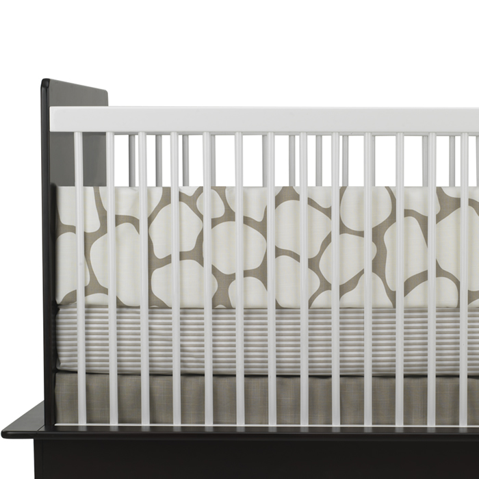 Cobblestone 3-Piece Crib Set in Taupe by Oilo Thumbnail 1