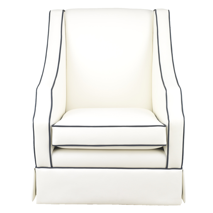 Cohen Glider in White Faux Leather by Oilo Thumbnail 2