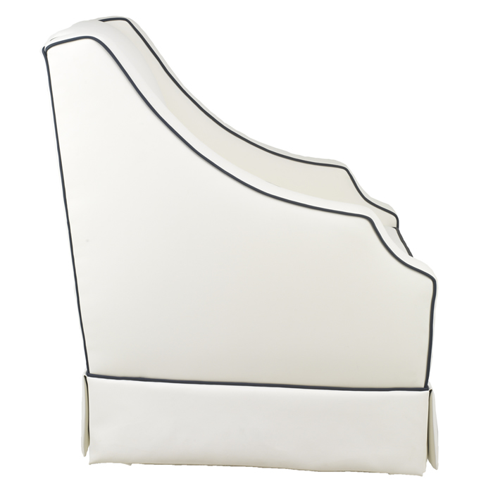 Cohen Glider in White Faux Leather by Oilo Thumbnail 3