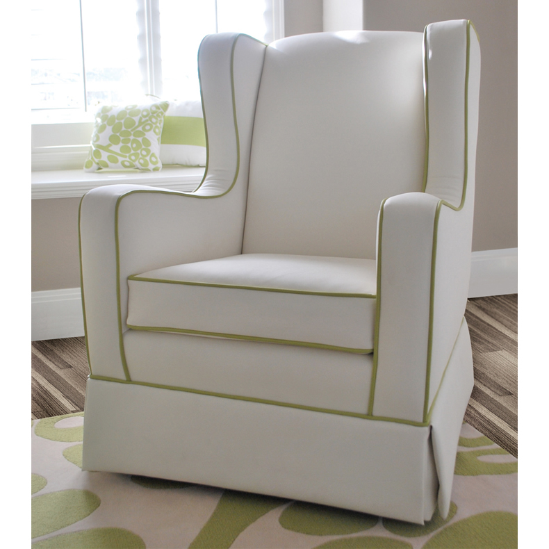 Penelope Glider in Faux White Leather by Oilo Thumbnail 1
