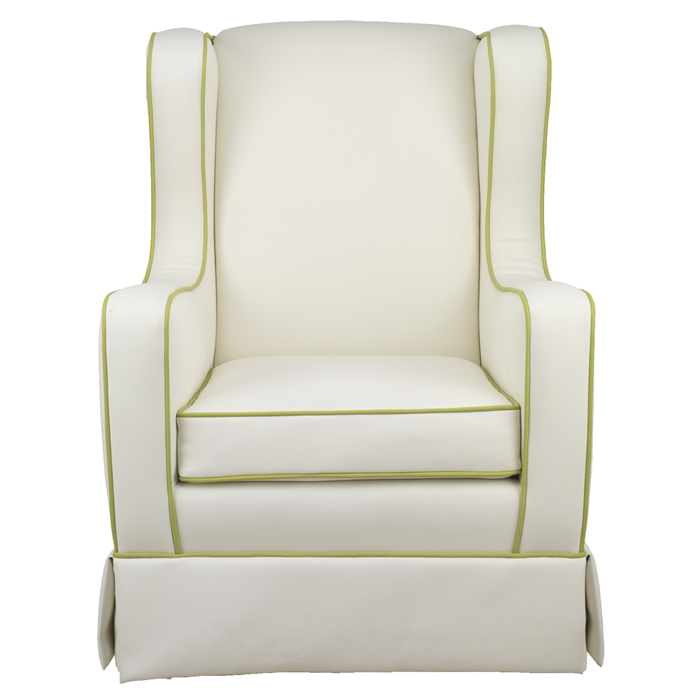 Penelope Glider in Faux White Leather by Oilo Thumbnail 3