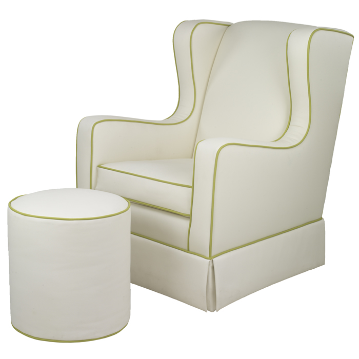 Penelope Glider in Faux White Leather by Oilo Thumbnail 2