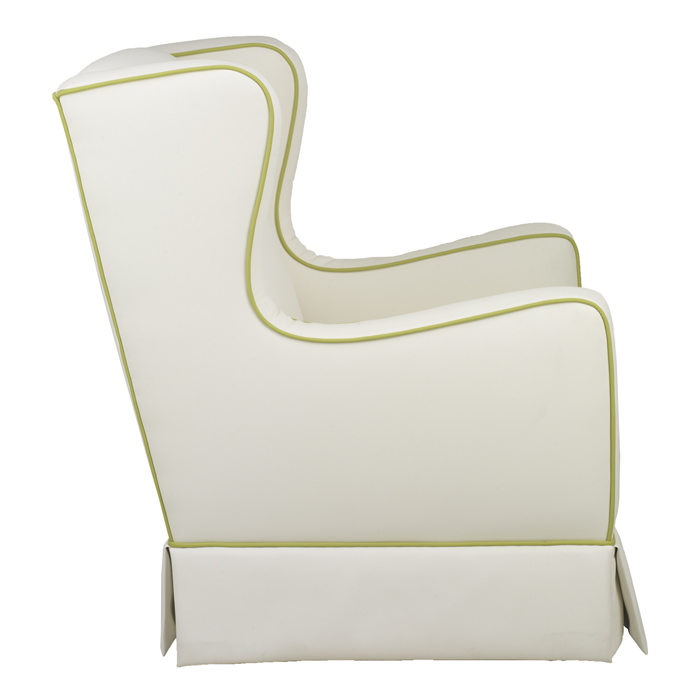 Penelope Glider in Faux White Leather by Oilo Thumbnail 5