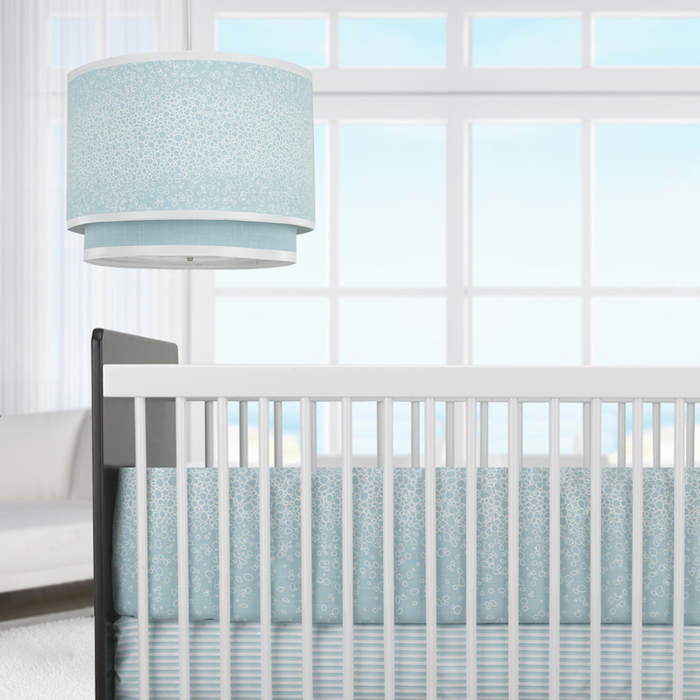 Raindrops 3-Piece Crib Set in Aqua by Oilo Thumbnail 3