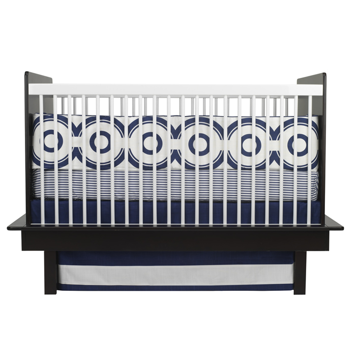 Wheels 3-Piece Crib Set in Cobalt Blue by Oilo Thumbnail 1