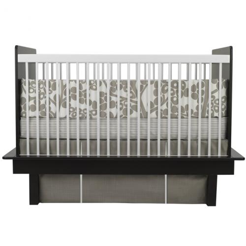 Modern Berries 3-Piece Crib Set in Taupe by Oilo Thumbnail