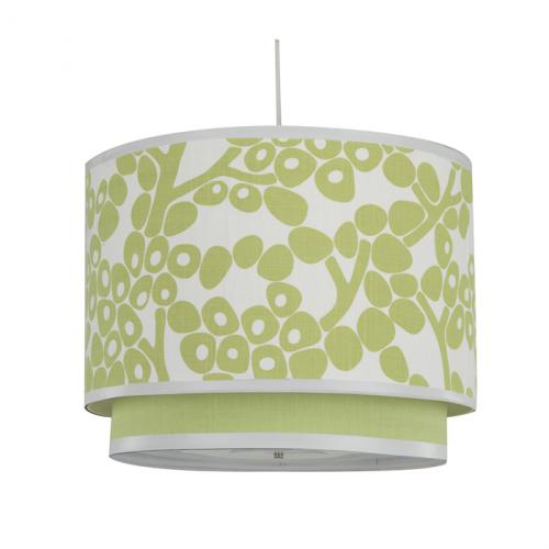 Modern Berries Double Pendant Light in Spring Green by Oilo