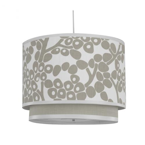Modern Berries Double Cylinder Light in Taupe by Oilo