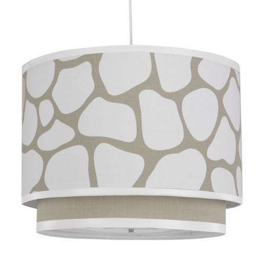 Cobblestone Double Cylinder Light in Taupe by Oilo