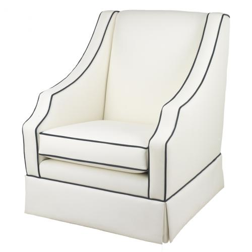 Cohen Glider in White Faux Leather by Oilo Thumbnail