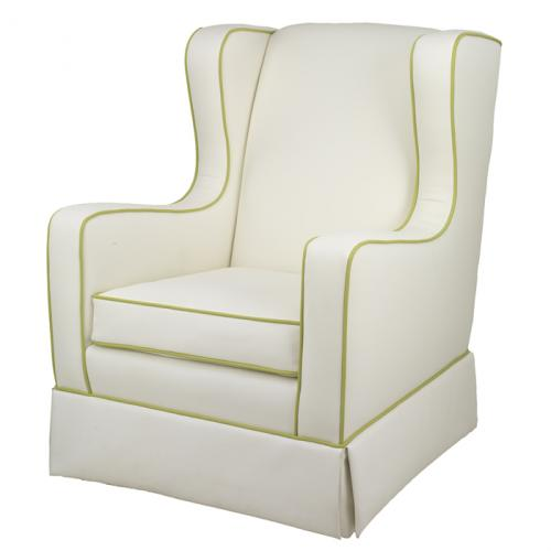 Penelope Glider in Faux White Leather by Oilo Thumbnail
