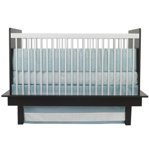 Raindrops 3-Piece Crib Set in Aqua by Oilo Thumbnail